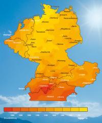 Strahlungsintensität in Deutschland
