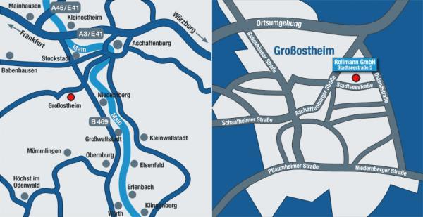Ihr Weg zu uns<br />Alfons Rollmann GmbH<br />Stadtseestraße 5<br />63762 Großostheim